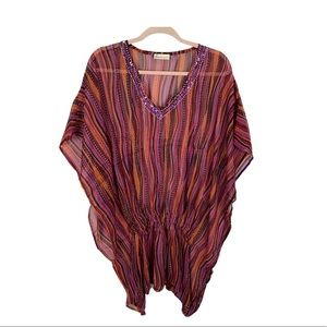 Collection eighteen swimsuit coverup striped tunic